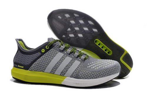 Mens Aidas Boost Clima Chill Grey & Fluorescent Green Inexpensive